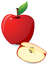 graphic of apple